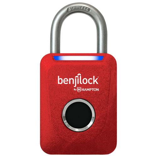 Cadenas à empreintes digitales de 35 mm de BenjiLock - Rouge mat