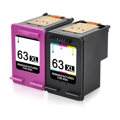 Cartouche d'encre Compatible pour HP 63XL 63XL Combo noir et tricolore haut rendement pour HP DeskJet 1110 1112 2130 3630 3632 Envy 4520 Officejet 38