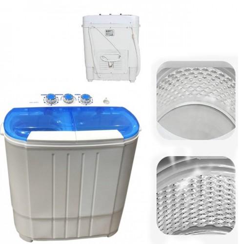 Mini laveuse portative à double cuve avec machine à laver et essoreuse de 8 lb