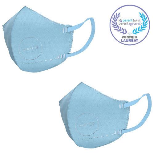 AirPop Kids Reusable Polyester Kids Face Mask - 2 Pack - Blue