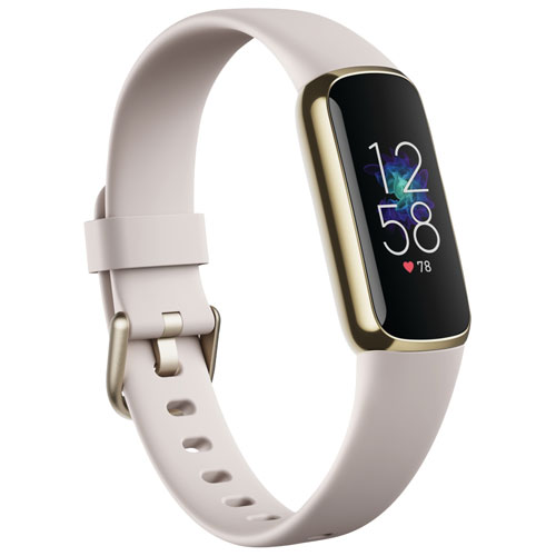 Fitbit Luxe Fitness Tracker with 24/7 Heart Rate & Sleep - White