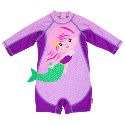 Zoocchini Baby/Toddler 1-Piece Surf Suit - 6 to 12 Months - Mermaid