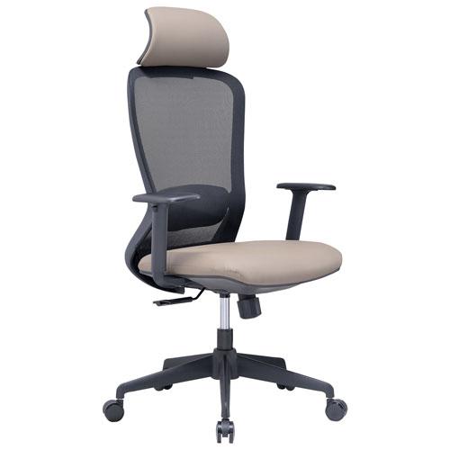 Fauteuil de bureau ergonomique en tissu maillé à dossier élevé Bailey de Sonas Seating - Taupe