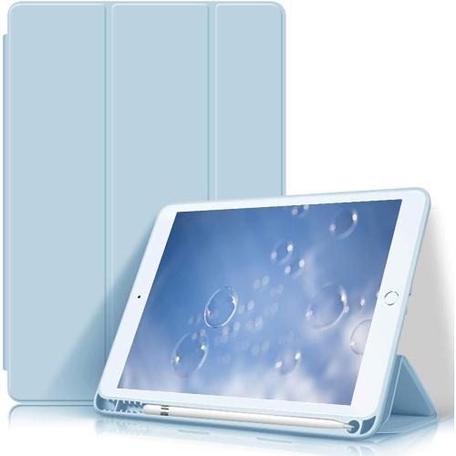 Étui HOCO pour nouvel iPad 10,2 pouces 8e génération 2020 / iPad 7e génération 2019, étui mince et léger à trois volets avec porte-crayon, couverture