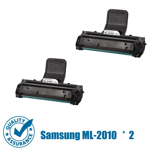 Printer Pro™ 2 Pack Samsung ML-2010D3(ML2010/2010) Compatible Black Toner Cartridge-Samsung Printer ML-2010 ML-1610 ML-2510 ML-2570 ML-2571