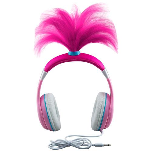 KIDdesigns Trolls Over-Ear Noise Cancelling Kids Headphones - Pink