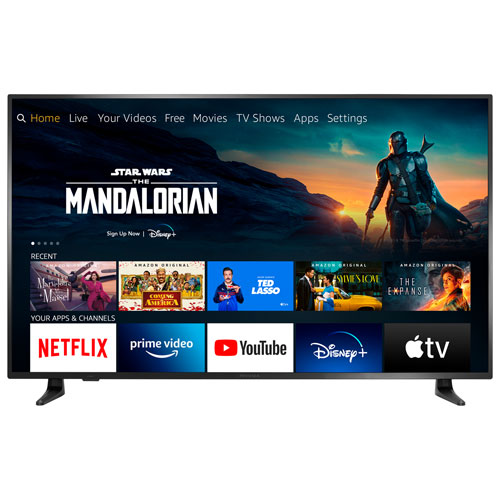 """Insignia 58"""" 4K UHD HDR LCD Smart TV - Fire TV Edition - 2021 - Only At Best Buy"""