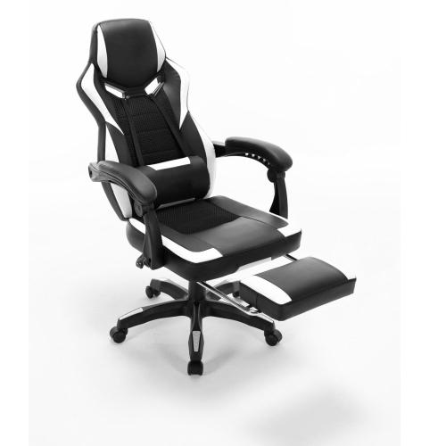 ViscoLogic ASPHALT Chaise de jeu E-Sports avec repose-pieds et support lombaire