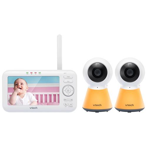 Interphone surv. 5 po/2 caméras, veilleuse, vision nocturne, comm. 2 voies de VTech