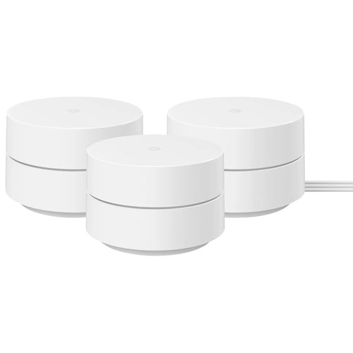 Google WiFi Router with 2 Points - Snow - 3 Pack
