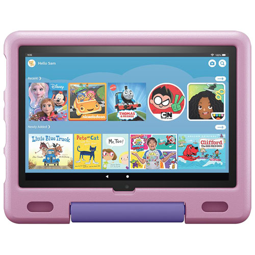 """Amazon Fire HD 10 Kids Edition 10.1"""" 32GB FireOS Tablet with MTK/MT8183 Processor - Lavender"""