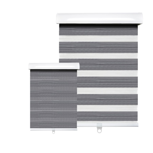 Hauz 6884WDGRYCD - 68 '' X 84 '' Alternate Blinds Window Shade, Cordless, Wood Grain Grey