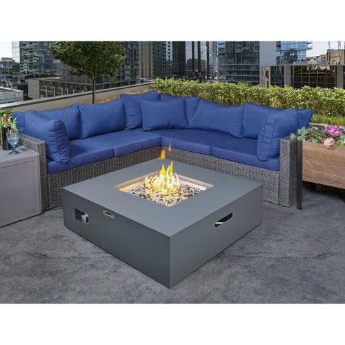 Paramount Square Propane Fire Pit Table - 55,000 BTU - Concrete-Look