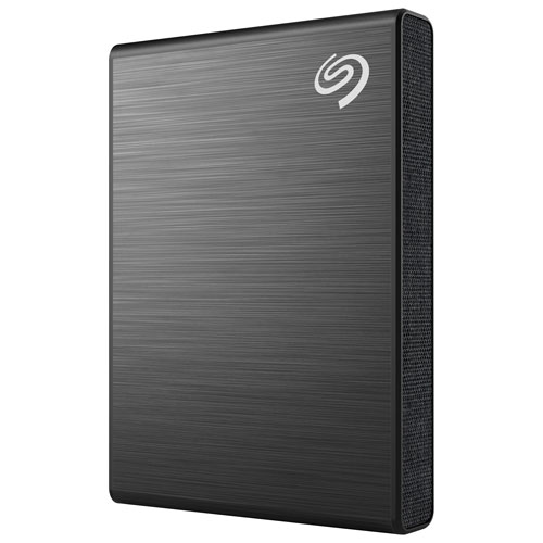 Seagate One Touch 500GB USB 3.2 External Solid State Drive - Black