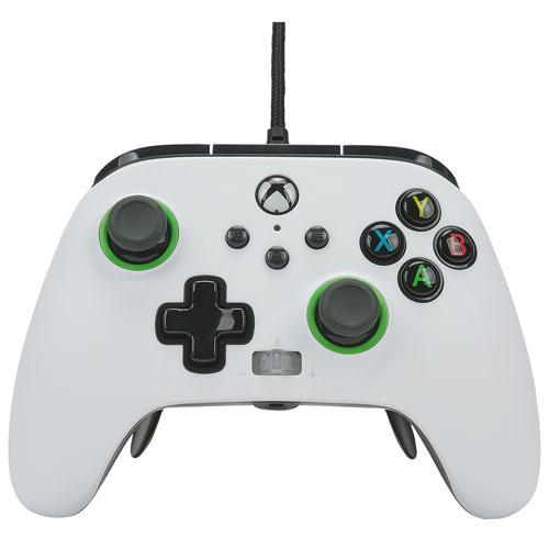 Manette avec fil Fusion Pro 2 de PowerA pour Xbox Series X|S - Blanc/Noir
