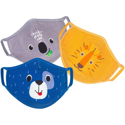 ZOOCCHINI Reusable Cotton Kids Face Mask - 3 Pack - Dog