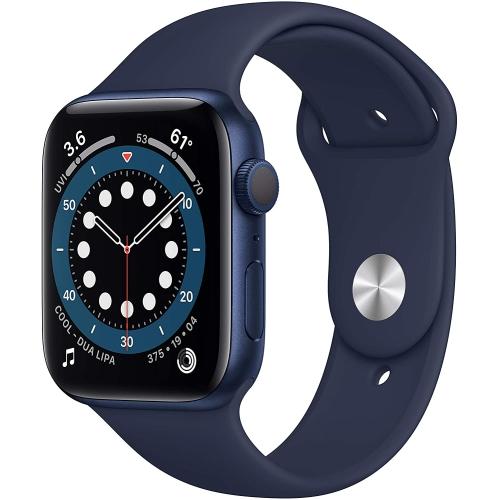 Apple Watch Series 6 44mm - Blue Aluminum Case with Deep Navy Sport Band - Brand New