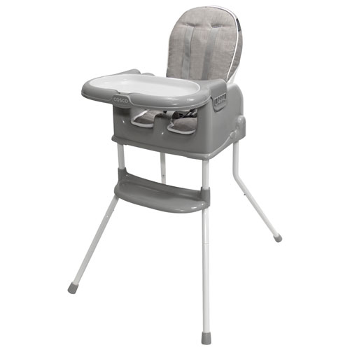 Cosco 4-in-1 Sit Smart High Chair with Tray - Linen Slate/Beige