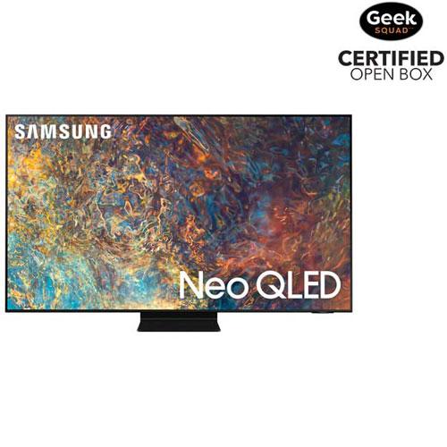 "Samsung 65"" 4K UHD HDR QLED Tizen OS Smart TV - 2021 - Titan Black - Open Box"
