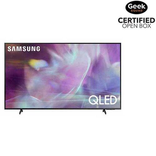 "Samsung 60"" 4K UHD HDR QLED Tizen Smart TV - 2021 - Titan Grey - Open Box"