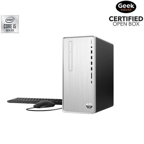 HP Pavilion Desktop PC - Natural Silver - Open Box