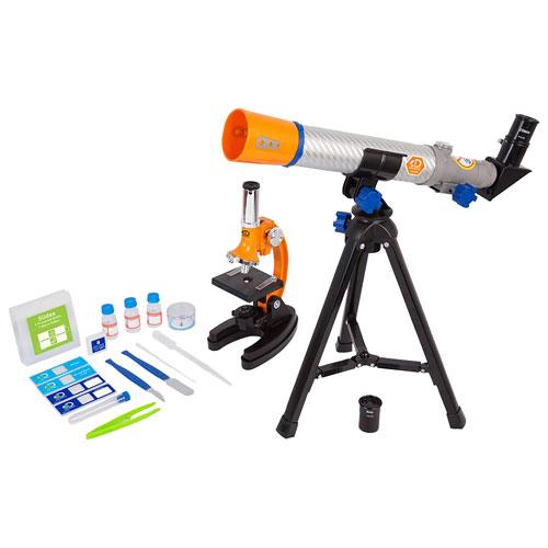 Ensemble avec lunette astronomique 40 x 500 mm et microscope 100x-900x de Discovery