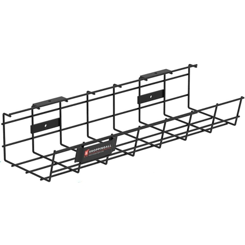 SHOPPINGALL Under Desk Cable Management Organizer Tray - Sturdy Metal Cable Tray for Office, Home, and Indoor Use - SA-CMT42