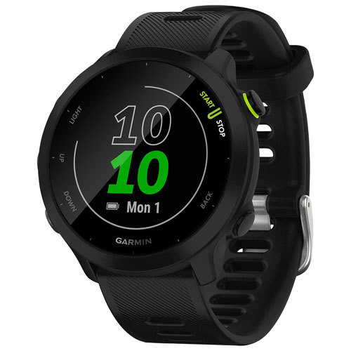 Garmin Forerunner 55 GPS Watch with Heart Rate Monitor - Black