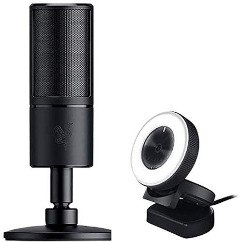 Razer Kiyo Webcam & Seiren X Microphone Streaming Kit