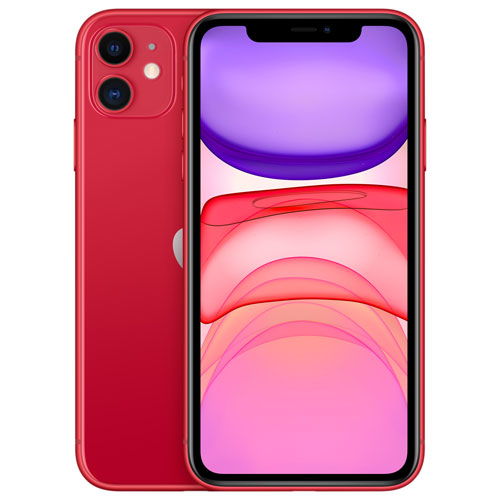 Shaw Apple iPhone 11 128GB -RED - Monthly Tab Payment