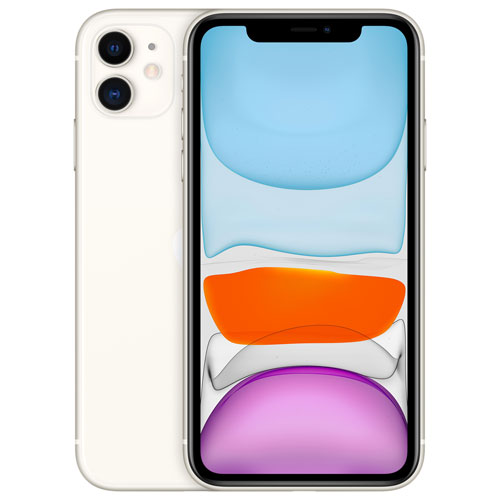 Shaw Apple iPhone 11 128GB - White - Monthly Tab Payment