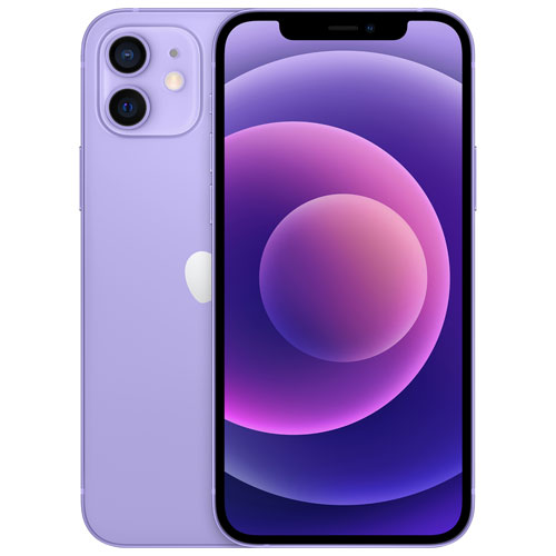 Shaw Apple iPhone 12 64GB - Purple - Monthly Tab Payment