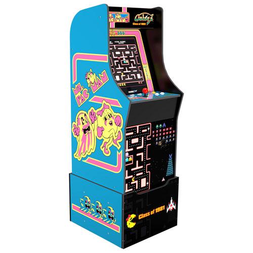 Arcade1Up Ms. Pac-Mac/Galaga Class of '81 Arcade Machine with Riser