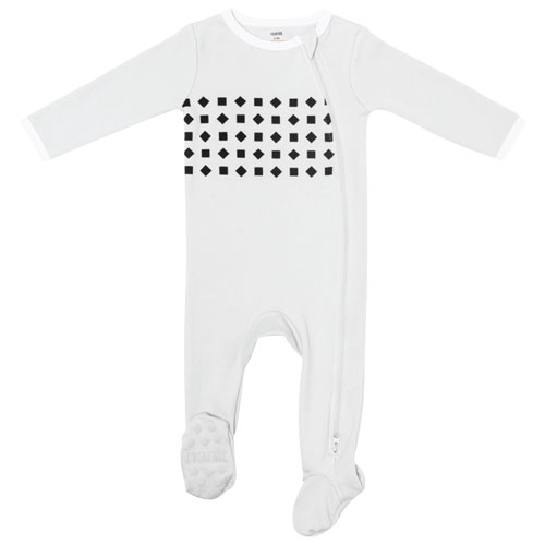 Nanit Breathing Wear Cotton Pajama for Nanit Pro and Plus Camera - 3 to 6 Months - Grey