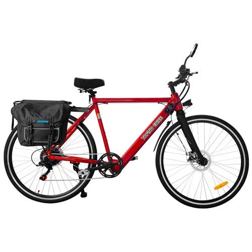 "Daymak Tofino X 350-Watt 29"" Electric Bike - Red"