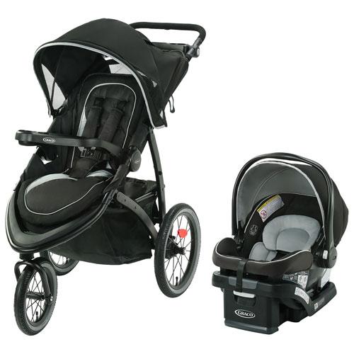 Poussette FastAction Jogger LX Graco avec siège d'auto de bébé SnugRide SnugLock 35 Lite - Mansfield