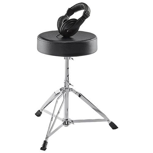 Alesis Drum Throne & Headphone Essentials Bundle