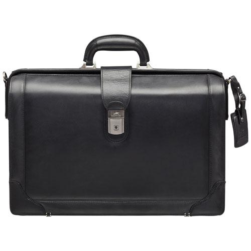 Mallette en cuir pour portable 17,3 po Luxurious Litigator Beverly Hills de Mancini - Noir