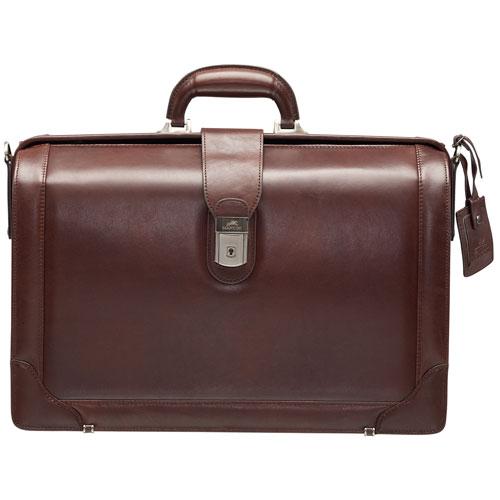 Mallette en cuir pour portable 17,3 po Luxurious Litigator Beverly Hills de Mancini - Brun