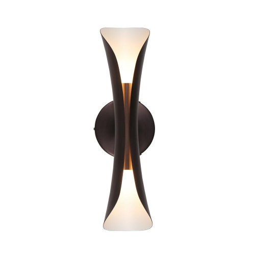 Tubicen Indoor Wall Sconce Light Up Down, 2-Lights Metal Wall Lamp Sconce Lighting Fixture, LED Dimmable Wall Light for Living Room Bedroom Hallway,