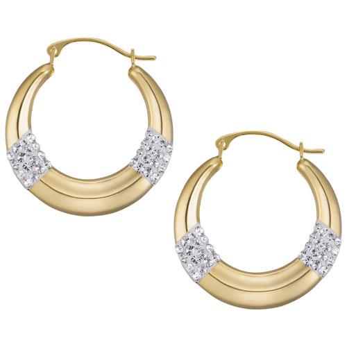 Anneaux avec cristal en or 14 ct de Le Reve Collection