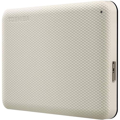 Disque dur externe USB 3.0 Canvio Advance de 2 To de Toshiba - Blanc