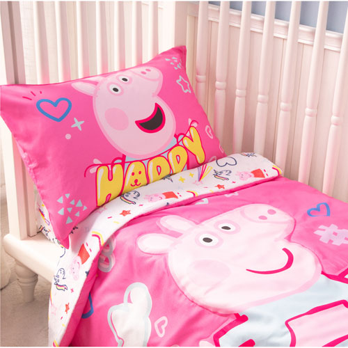 Nemcor 3-Piece Bedding Set - Crib - Peppa Pig