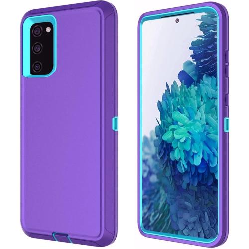 【CSmart】 Anti-Drop Triple 3 Layers Shockproof Heavy Duty Defender Hard Case for Samsung Galaxy S20 FE, Purple