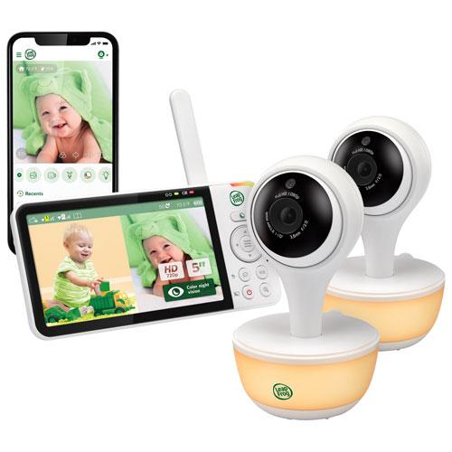 Interphone vidéo Wi-Fi 5 po de LeapFrog avec 2 cam., vision noct., zoom et audio bidir.