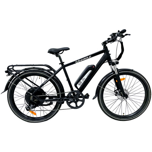 "GoPowerBike GoEagle 750-Watt 18.5"" Electric Bike - Black"