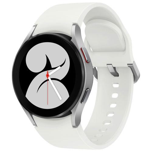Montre intelligente de 40 mm Galaxy Watch4 de Samsung avec moniteur de fréquence cardiaque - Argenté