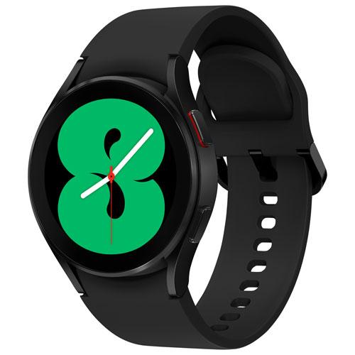 Montre intelligente de 40 mm Galaxy Watch4 de Samsung avec moniteur de fréquence cardiaque - Noir