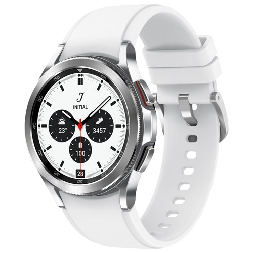 Samsung Galaxy Watch4 Classic 42mm Smartwatch with Heart Rate Monitor - Silver