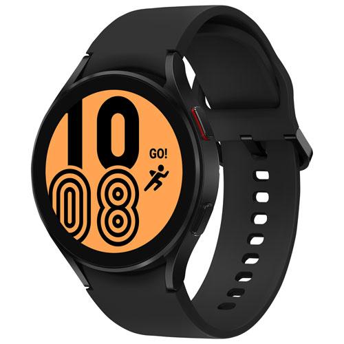 Montre intelligente de 44 mm Galaxy Watch4 de Samsung avec moniteur de fréquence cardiaque - Noir
